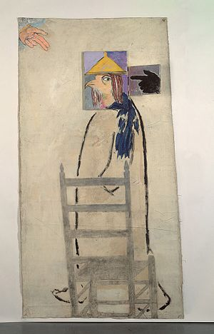 "Wandering Jew - ""The Wandering Jew"" (1983) a painting by Michael Sgan-Cohen"