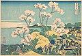冨嶽三十六景 東海道品川御殿山の不二-Fuji from Gotenyama on the Tōkaidō at Shinagawa (Tōkaidō Shinagawa Gotenyama no Fuji), from the series Thirty-six Views of Mount Fuji (Fugaku sanjūrokkei) MET DP140996.jpg
