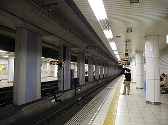 Itayado Station - Sanyo Electric Railway platforms