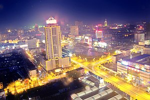 Hanzhong - Night view of the city