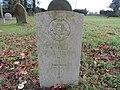 -2018-12-10 CWGC gravestone, Private W Thirst, Saint Margaret of Antioch parish church, Suffield, Norfolk (2).JPG