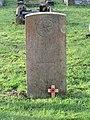-2020-12-28 CWGC gravestone, Lieutenant J. H. Dowsett, York and Lancaster Regiment, Cromer town cemetery.JPG