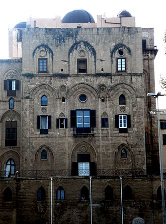 Palermo Astronomical Observatory - The part of the Palace of the Normans hosting the observatory