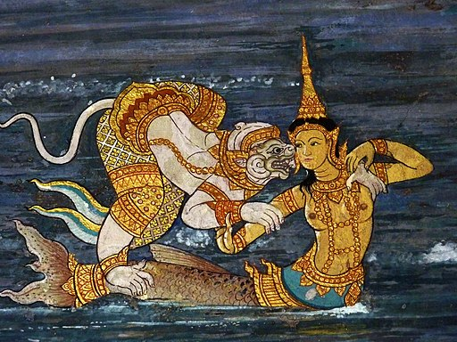 mermaids in the Ramayana