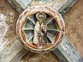 083 Sant Jeroni de la Murtra, galeria nord del claustre, clau de volta.JPG