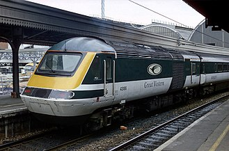 Great Western Railway (train operating company) - An InterCity 125 as operated by the original Great Western Trains franchise in 1996 - 1998