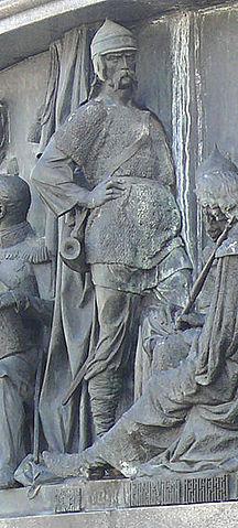 Святослав Игоревич на Памятнике «1000-летие России» в Великом Новгороде