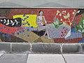 1030 Krummgasse 5 - Mosaik Flötenspielerin von Alfred Kornberger 1968 IMG 0652.jpg