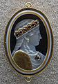 107 giovanni delle corniole (attr. o ambito), testa femminile coronata, 1490 ca..JPG
