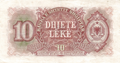 10 lekë of Albania in 1949 Reverse.png