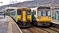 150256 Bridgend to Aberdare 2A36 and 142002 Treherbert to Cardiff Central 1F50 (27367023078).jpg