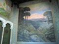 169 Casa Alegre de Sagrera (Terrassa), mural de Joaquim Vancells a la caixa de l'escala.JPG