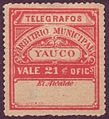 1888 Puerto Rico Yauco telegrafos 21c.JPG