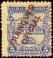 1890 5c Nicaragua Franqueo Oficial YvS3 MiD3.jpg