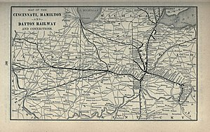 Cincinnati, Hamilton and Dayton Railway (1846–1917) - Map