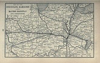 Cincinnati, Hamilton and Dayton Railway (1846–1917) - Image: 1897 Poor's Cincinnati, Hamilton and Dayton Railway