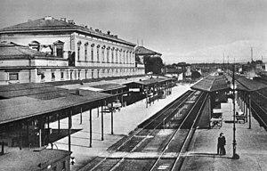 Rosenheim–Salzburg railway - New Rosenheim station in 1905