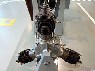 """Anzani 3-cylinder fan engines - Anzani """"Y"""" radial engine"""