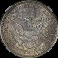 1914 Barber Quarter NGC AU58 Reverse.png