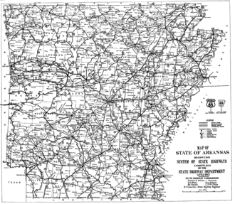 1926 Arkansas state highway numbering - Image: 1926 Arkansas numbering