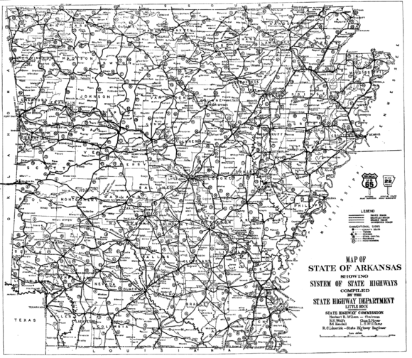 1926 Arkansas state highway numbering - Wikiwand