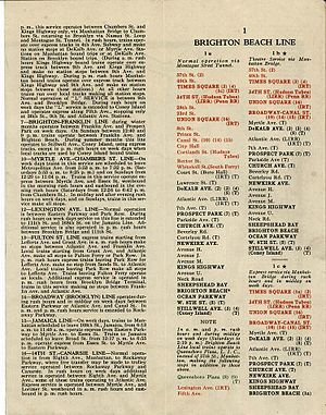 J/Z (New York City Subway service) - Image: 1931map 2