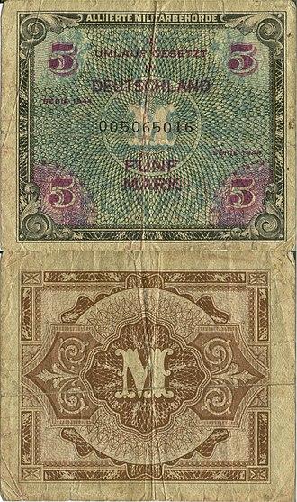 AM-Mark - Image: 1944 German Military Mark