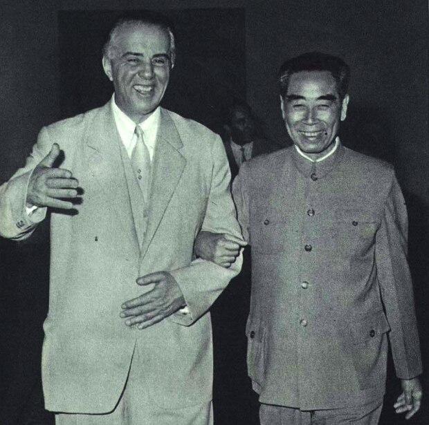 1966-10 1966年霍查与周恩来
