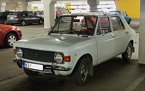 Zastava Skala - Early model with round headlights and chromed bumpers