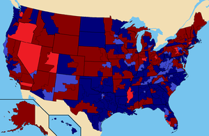 United States House of Representatives elections, 1982 - Image: 1982 House of Representatives Elections map