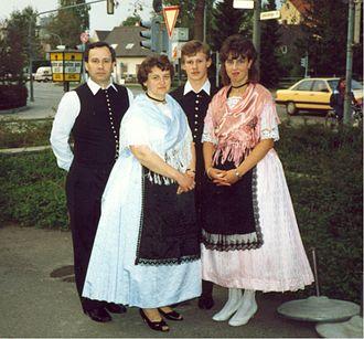 Dudeștii Noi - Traditional dressing from Neubeschenowa, 1988