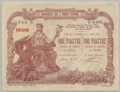 1 Piastre - Banque de l'Indo-Chine, Saigon Branch (1909-1921, Overstamp type 2) 01.png