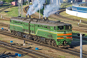 TE10 - Image: 2ТЭ10М 2849, Витебск (3)