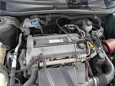 Ecotec L61 installed in a 2003 Chevrolet Cavalier 2003CavalierL61Engine.jpg
