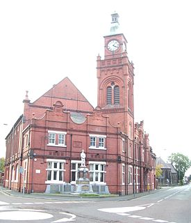 Earlestown town in Newton-le-Willows in the Metropolitan Borough of St Helens, Merseyside, England