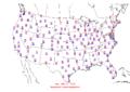 2006-02-27 Max-min Temperature Map NOAA.png