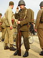 2007.07.21 Gdynia, Polish infantry soldier from II WW holding (presumably) Polish Rifle model 98a (Mauser 98).jpg