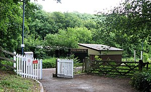 2009 at St Keyne Wishing Well Halt - entrance.jpg