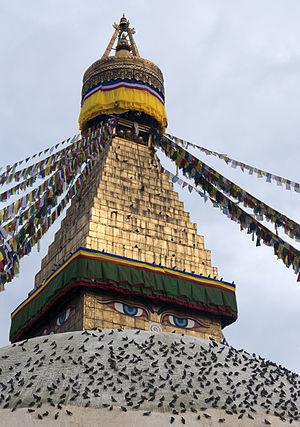 Detail des Stupa von Bodnath
