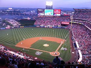2012 Los Angeles Angels season - Angel Stadium on Opening Day