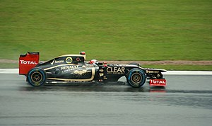 2012 British Grand Prix - Kimi Räikkönen qualified his Lotus in sixth position.