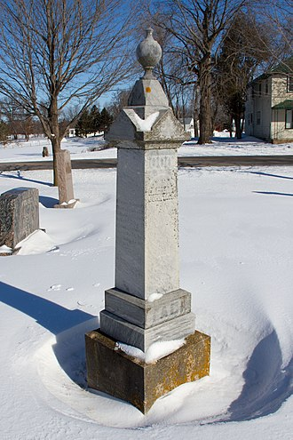 Stockholm Township, Wright County, Minnesota - Many gravestones like this one are written in the Swedish language of the township's early immigrants.
