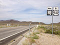 2014-07-28 09 37 32 View west along U.S. Route 50 at the junction with Nevada State Route 361 (Gabbs Valley Road) in Middlegate, Nevada.JPG
