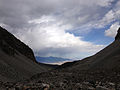 2014-09-15 13 16 55 View down the valley of the Wheeler Peak Glacier from above the end of the Glacier Trail in Great Basin National Park, Nevada.JPG
