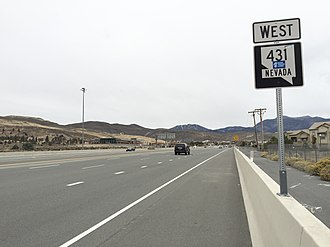 Nevada State Route 431 - View from the east end of SR 431 looking westbound