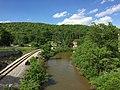 2016-06-06 16 55 09 View northeast down the North Branch Potomac River from the Gorman-Gormania Bridge (U.S. Route 50) between Gormania, Grant County, West Virginia and Gorman, Garrett County, Maryland.jpg