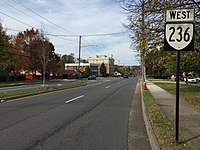 2016-10-30 11 43 29 View west along Virginia State Route 236 (Main Street) at West Street in Fairfax, Virginia.jpg