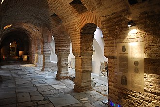 Paleochristian and Byzantine monuments of Thessaloniki - Inside the crypt of Hagios Demetrios