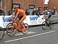2017 Tour of Britain (4) - 171 Marcin Bialoblocki and 044 Jacob Scott.JPG