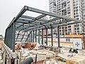20190117 No.A Entrance under Construction of Juyuanzhou Station.jpg